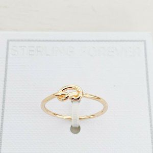 NWT | Sterling Forever Knot Ring 14K Vermeil Sz 9